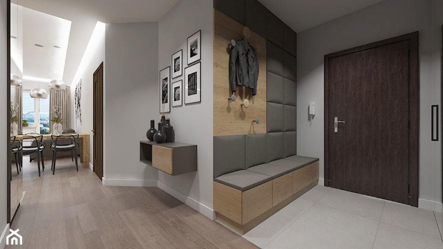 Nowoczesne wnętrze w odcieniach brązu - Mały szary hol / przedpokój, styl nowoczesny - zdjęcie od SO INTERIORS Architektura Wnętrz