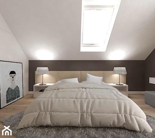 Sypialnia Na Poddaszu Nowoczesna