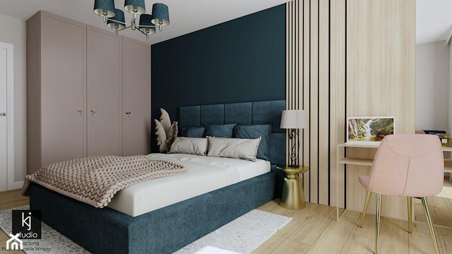 Sypialnia w kobiecym stylu - Sypialnia, styl glamour - zdjęcie od KJ Studio Projektowanie wnętrz