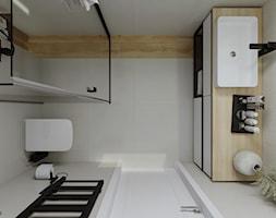 Dom w stylu skandynawskim - łazienka na parterze - Łazienka, styl skandynawski - zdjęcie od KJ Studio Projektowanie wnętrz - Homebook