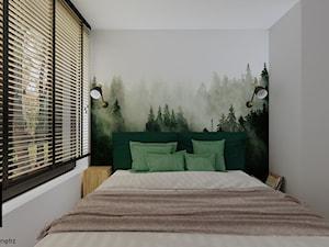 Sypialnia w stylu industrialnym (Dom z widokiem na Beskidy)