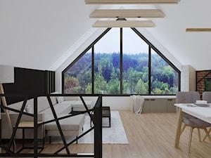 Salon w stylu industrialnym (Dom  z widokiem na Beskidy)