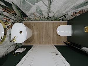 Toaleta z tapetą