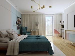 Sypialnia w błękicie i różu