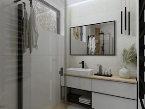 Dom w stylu skandynawskim - łazienka na parterze