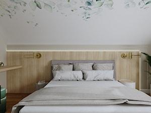 Sypialnia na poddaszu (Dom w Malinówkach)