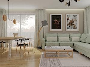 Parter w domu jednorodzinnym w odcieniach taupe