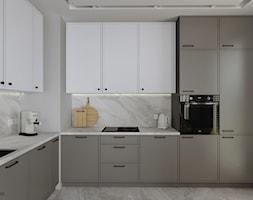 Nowoczesna kuchnia (Mieszkanie w Katowicach) - Kuchnia, styl nowoczesny - zdjęcie od KJ Studio Projektowanie wnętrz - Homebook