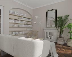 Salon i sypialnia w stylu francuskim - Salon, styl vintage - zdjęcie od KJ Studio Projektowanie wnętrz - Homebook