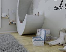 Pokój dziecięcy z tapetą - Pokój dziecka, styl skandynawski - zdjęcie od KJ Studio Projektowanie wnętrz - Homebook