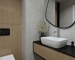 Łazienka z prysznicem - Łazienka, styl nowoczesny - zdjęcie od KJ Studio Projektowanie wnętrz - Homebook