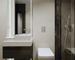 Minimalistyczna łazienka - Łazienka, styl nowoczesny - zdjęcie od KJ Studio Projektowanie wnętrz - Homebook