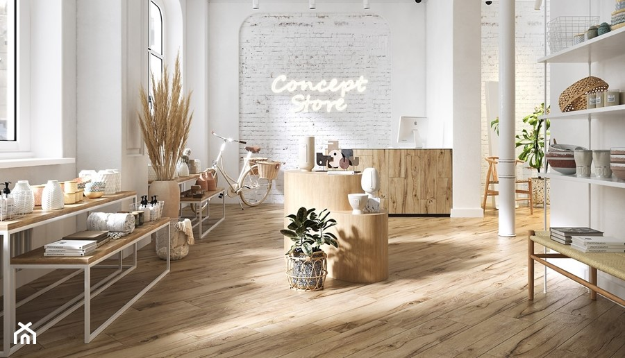 PASSION OAK - Wnętrza publiczne, styl skandynawski - zdjęcie od Opoczno