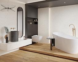ALCAMO - Średnia biała łazienka w bloku w domu jednorodzinnym, styl glamour - zdjęcie od Opoczno - Homebook