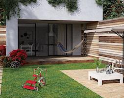 STONE 2.0 - Mały taras z tyłu domu, styl nowoczesny - zdjęcie od Opoczno