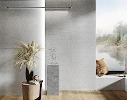 VIDAL - Szara łazienka w domu jednorodzinnym z oknem, styl nowoczesny - zdjęcie od Opoczno - Homebook