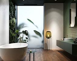GREEN SHOW - Średnia biała zielona łazienka jako salon kąpielowy, styl nowoczesny - zdjęcie od Opoczno - Homebook