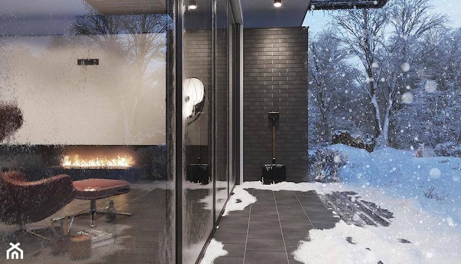SOLAR - Średni taras z tyłu domu, styl nowoczesny - zdjęcie od Opoczno