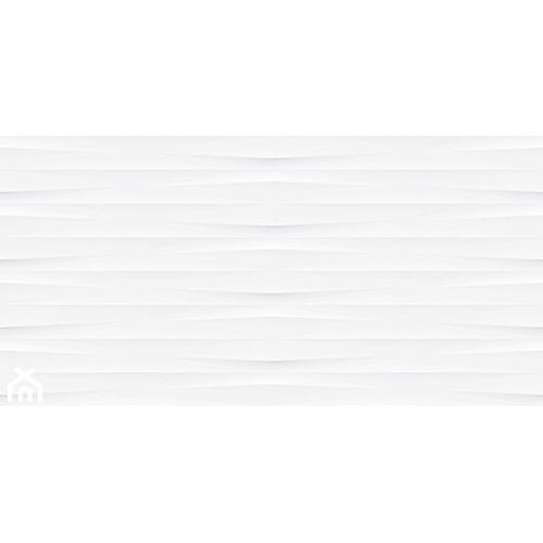 Ribero White Structure Satin Rect