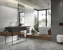 VIDAL - Duża szara łazienka w domu jednorodzinnym z oknem, styl nowoczesny - zdjęcie od Opoczno - Homebook