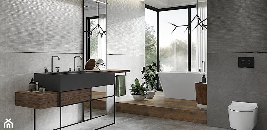 Płytki à la beton w 6 zaskakujących odsłonach – zobacz naturalne i przytulne aranżacje łazienek