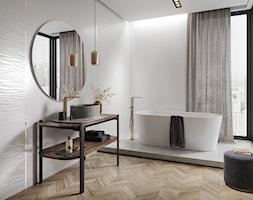OLA BIANKA - Średnia biała łazienka w bloku w domu jednorodzinnym z oknem, styl nowojorski - zdjęcie od Opoczno - Homebook