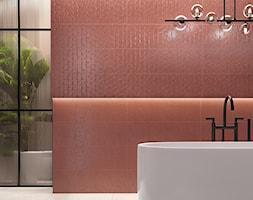 CLARET - Mała średnia różowa łazienka w bloku w domu jednorodzinnym, styl industrialny - zdjęcie od Opoczno - Homebook