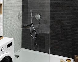 Łazienka - Średnia biała czarna łazienka, styl industrialny - zdjęcie od Castorama