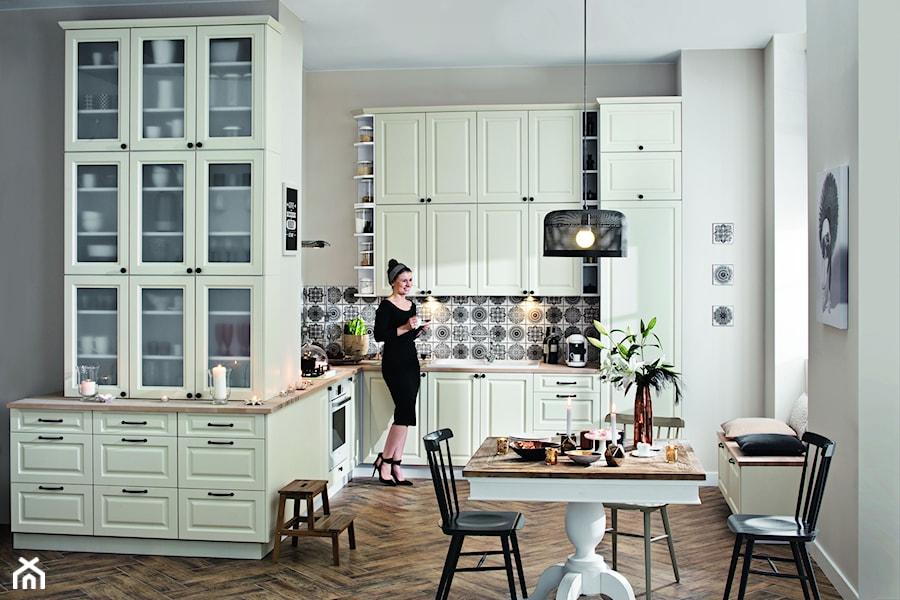 Kuchnia Luiza Waniliowy  Duża otwarta kuchnia w kształcie litery l  zdjęcie   -> Castorama Inspiracje Kuchnia
