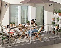 Balkon, taras, ogród - Mały taras z tyłu domu, styl nowoczesny - zdjęcie od Castorama