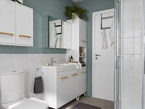 Łazienka - Średnia biała turkusowa łazienka z oknem, styl tradycyjny - zdjęcie od Castorama