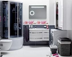 Łazienka - Duża biała szara łazienka, styl nowoczesny - zdjęcie od Castorama