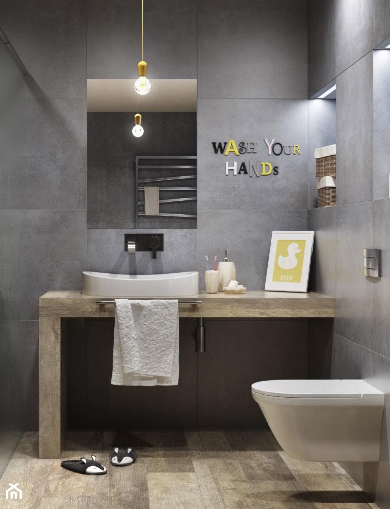 Łazienka  Średnia łazienka w bloku bez okna, styl minimalistyczny  zdjęcie   -> Kafelki Kuchenne Castorama