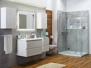 Łazienka - Duża szara łazienka, styl nowoczesny - zdjęcie od Castorama