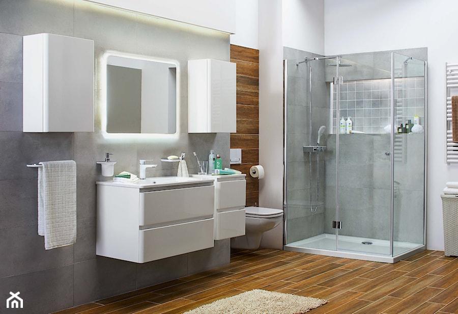łazienka Duża Szara łazienka Styl Nowoczesny Zdjęcie Od
