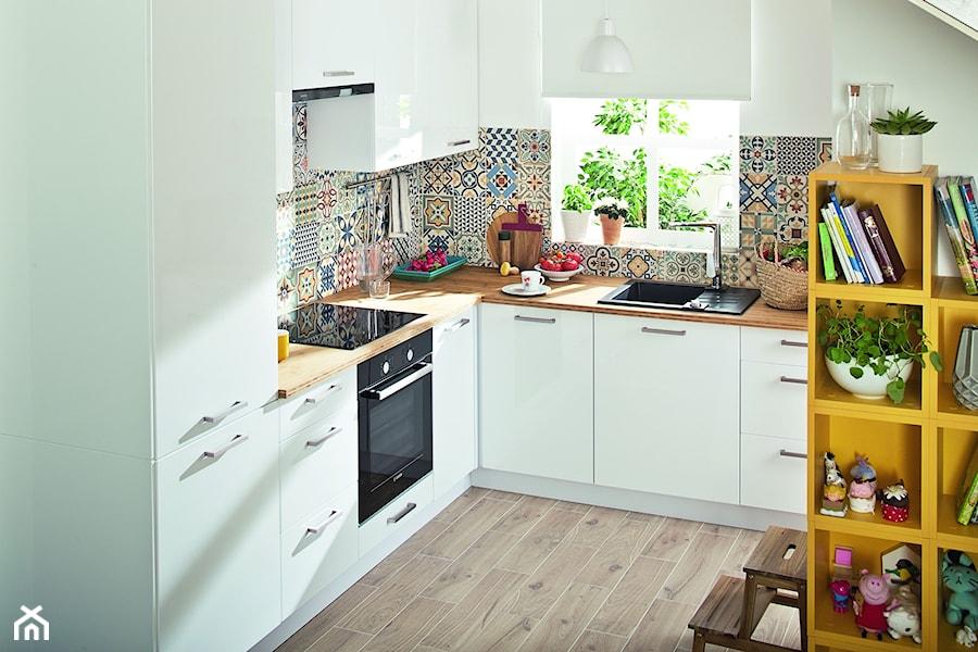 Kuchnia City Biały  Średnia otwarta kuchnia w kształcie