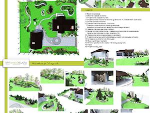 Ogród nowoczesny- ''Bukszpanowy i nie tylko''