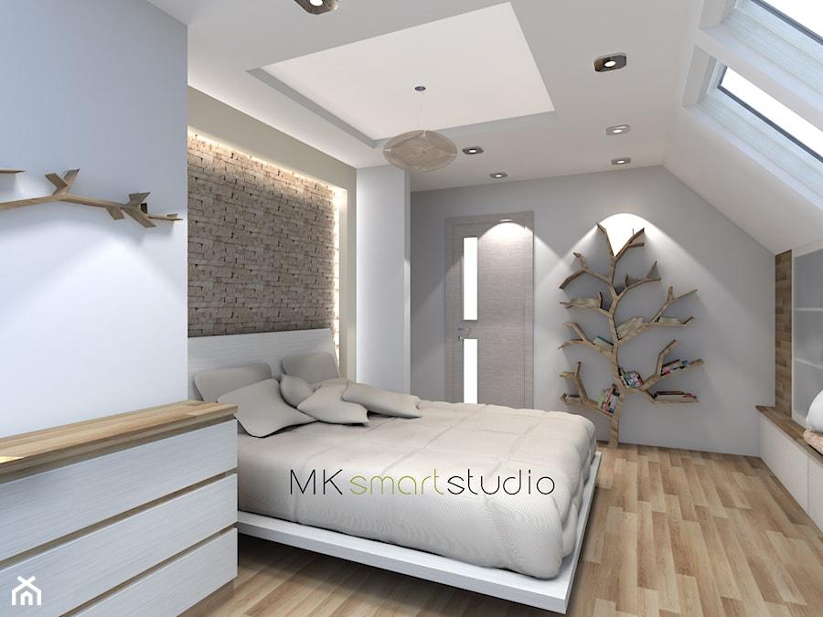 sypialnia w stylu skandynawskim duża bia�a sypialnia