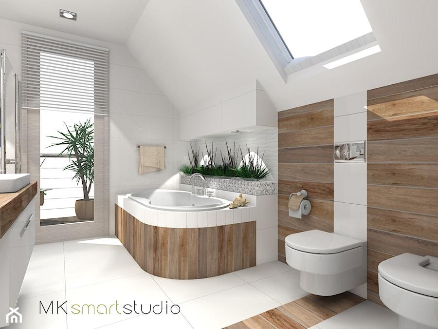 łazienka W Stylu Skandynawskim Projekt Duża Biała