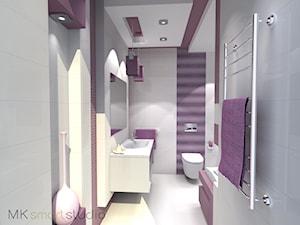 Fioletowa nowoczesna łazienka