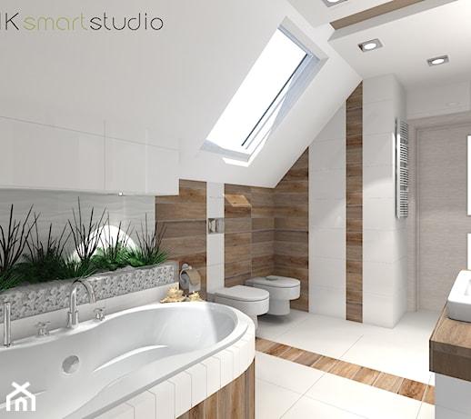 łazienka W Stylu Skandynawskim Projekt średnia Biała