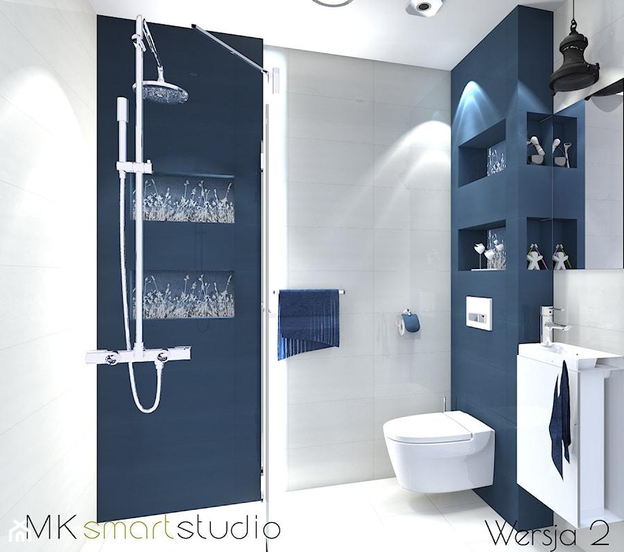 Nowoczesna Granatowa łazienka Zdjęcie Od Mksmartstudio