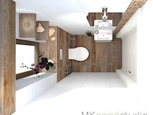 Mini wc w stylu skandynawskim