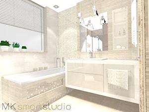 Nowoczesna kobieca i delikatna  łazienka  z kolekcji Egzotica firmy Tubądzin