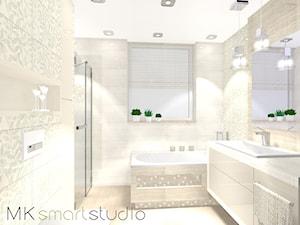 Nowoczesna kobieca i delikatna łazienka z kolekcji Egzotica firmy Tubądzin - zdjęcie od MKsmartstudio