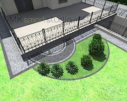 Projekt nawierzchni z kostki brukowej w Stróży w stylu swobodnym - zdjęcie od MKsmartstudio - Homebook