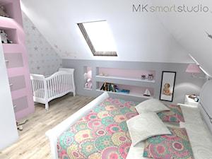 Sypialnia połączona z kącikiem dla noworodka
