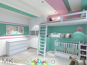 Pokój dziecinny- Miętowo kolorowo