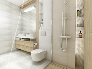 Ala ma kota... - Średnia szara łazienka na poddaszu w bloku w domu jednorodzinnym bez okna, styl nowoczesny - zdjęcie od AAW studio