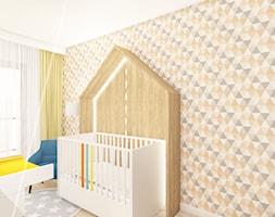 Powiew Nowego Jorku - Średni biały szary pokój dziecka dla chłopca dla dziewczynki dla niemowlaka, styl nowoczesny - zdjęcie od AAW studio